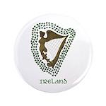 """Irish Harp and Shamrock 3.5"""" Button (100 pack)"""