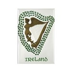 Irish Harp and Shamrock Rectangle Magnet (10 pack)