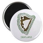 Irish Harp and Shamrock Magnet