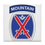 10th mountain division Mason Tile Coaster