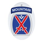 10th mountain division Mason Oval Ornament