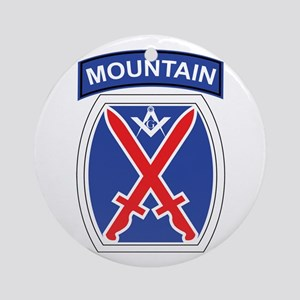 10th mountain division Mason Ornament (Round)