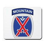 10th mountain division Mason Mousepad
