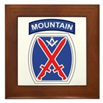 10th mountain division Mason Framed Tile