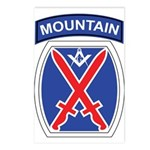 10th mountain division Mason Postcards (Package of
