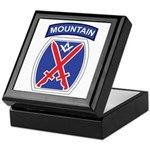 10th mountain division Mason Keepsake Box