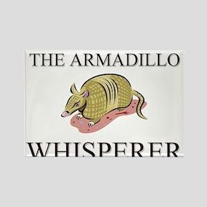 The Armadillo Whisperer Rectangle Magnet