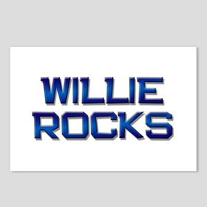 willie rocks Postcards (Package of 8)