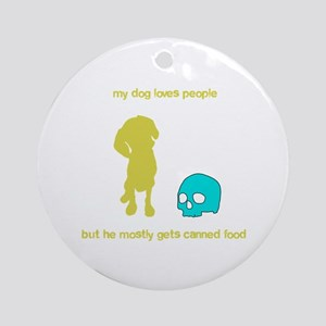 Your adorable maneating dog Ornament (Round)