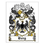 Berg Coat of Arms Small Poster