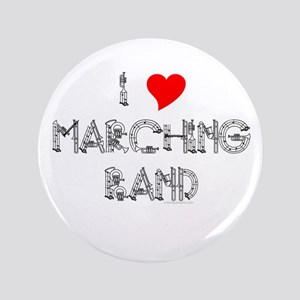 """I Love Marching Band 3.5"""" Button"""