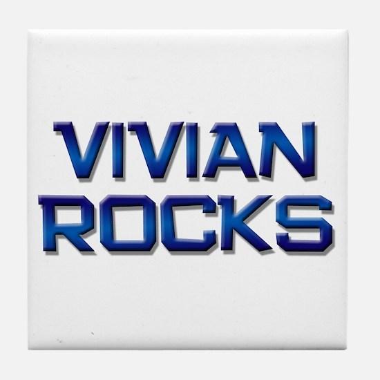 vivian rocks Tile Coaster