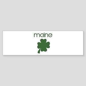 Maine shamrock Bumper Sticker