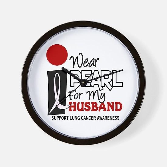 I Wear Pearl For My Husband 9 Wall Clock