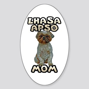 Lhasa Apso Mom Sticker (Oval)