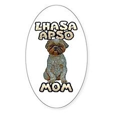 Lhasa Apso Mom Sticker (Oval)