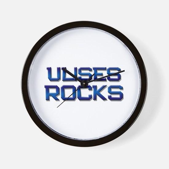 ulises rocks Wall Clock