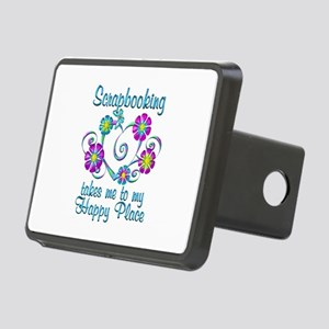Scrapbooking Happy Place Rectangular Hitch Cover