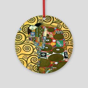 Fulfillment by Gustav Klimt Ornament (Round)
