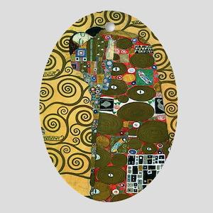 Fulfillment by Gustav Klimt Ornament (Oval)