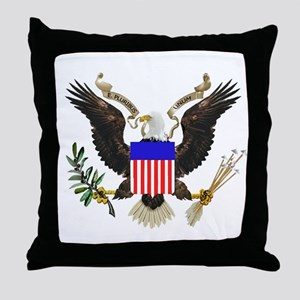 American Eagle Throw Pillow