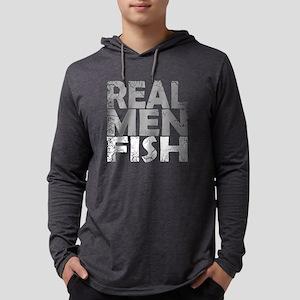 REAL MEN FISH WHI Long Sleeve T-Shirt