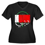 Dubai Flag Women's Plus Size V-Neck Dark T-Shirt