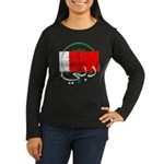 Dubai Flag Women's Long Sleeve Black T-Shirt