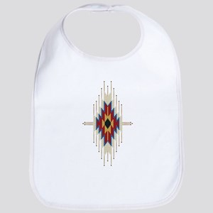 Southwest Native American Abstract Baby Bib