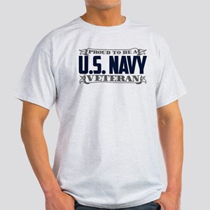 Proud To Be A U.S. Navy Veteran Light T-Shirt