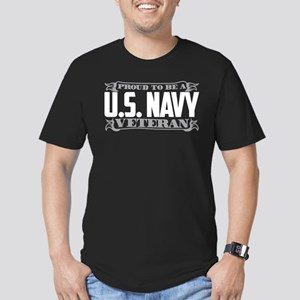 Proud To Be A U.S. Nav Men's Fitted T-Shirt (dark)