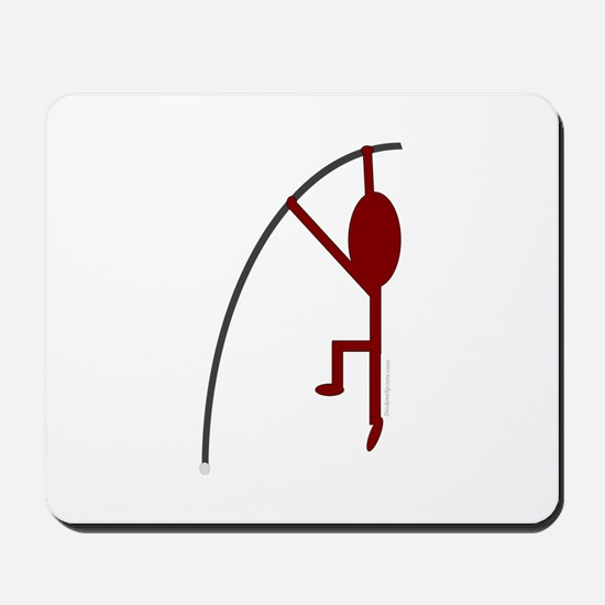 Maroon Pole Vaulter Mousepad