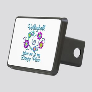 Volleyball Happy Place Rectangular Hitch Cover