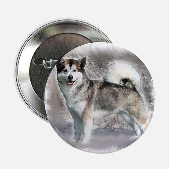 "Alaskan Malamute Art 2.25"" Button (10 pack)"