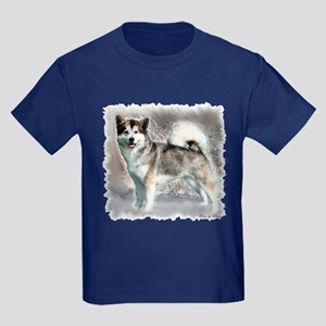 Alaskan Malamute Art Kids Dark T-Shirt