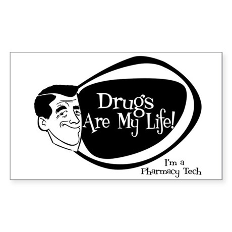 Manly Pharmacy Tech Rectangle Sticker