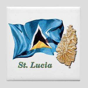 St. Lucia Tile Coaster