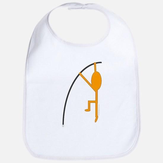Orange Pole Vaulter Bib
