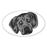 Puggle Puppy Oval Sticker