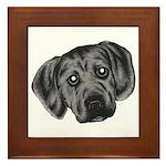 Puggle Puppy Framed Tile