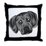 Puggle Puppy Throw Pillow