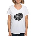 Puggle Puppy Women's V-Neck T-Shirt