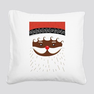 afro american santa Square Canvas Pillow