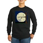 Bat Sleeping In Long Sleeve Dark T-Shirt