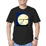 Bat Sleeping In Men's Fitted T-Shirt (dark)
