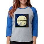 Bat Sleeping In Womens Baseball Tee