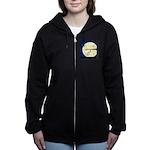 Bat Sleeping In Women's Zip Hoodie
