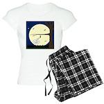 Bat Sleeping In Women's Light Pajamas