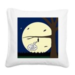 Bat Sleeping In Square Canvas Pillow