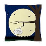 Bat Sleeping In Woven Throw Pillow